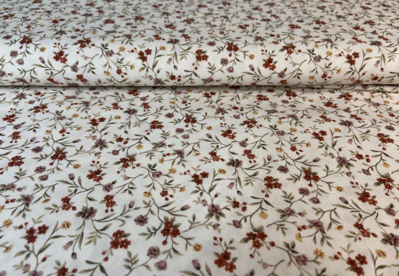 Baumwoll Popeline Romantische Blumen