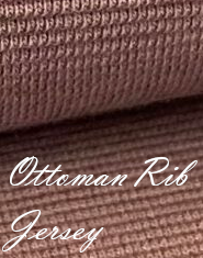 Ottoman Rib Jersey