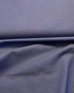 Baumwoll-Polyestermischung Uni Blau
