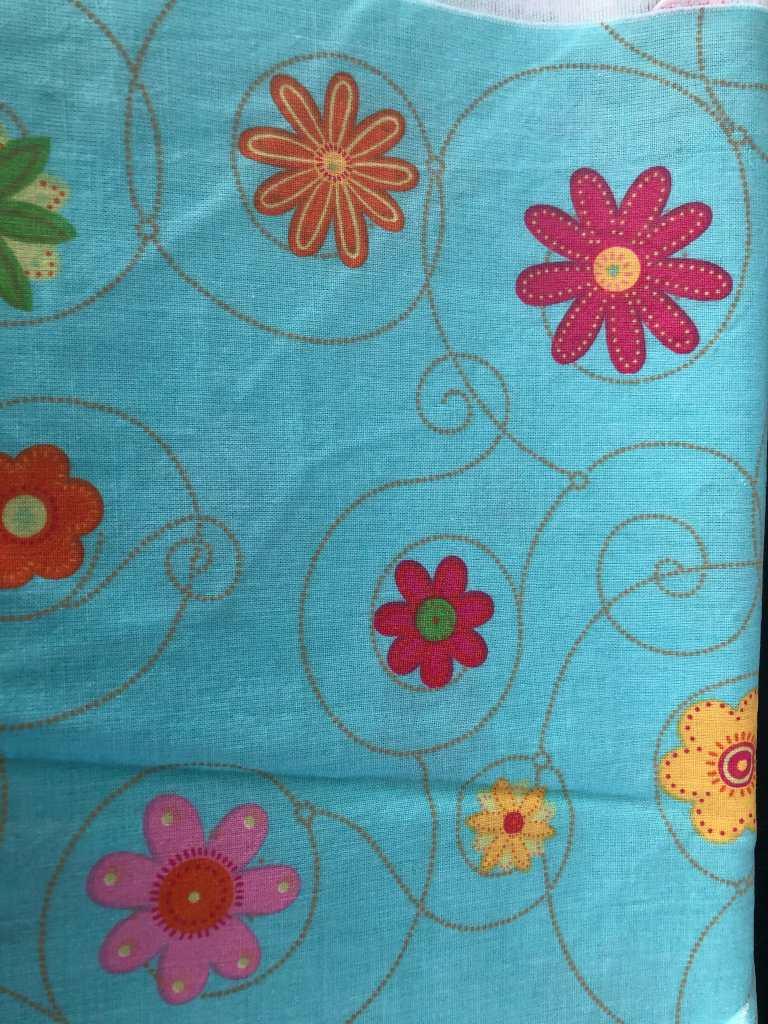 Baumwolle Blumen blau