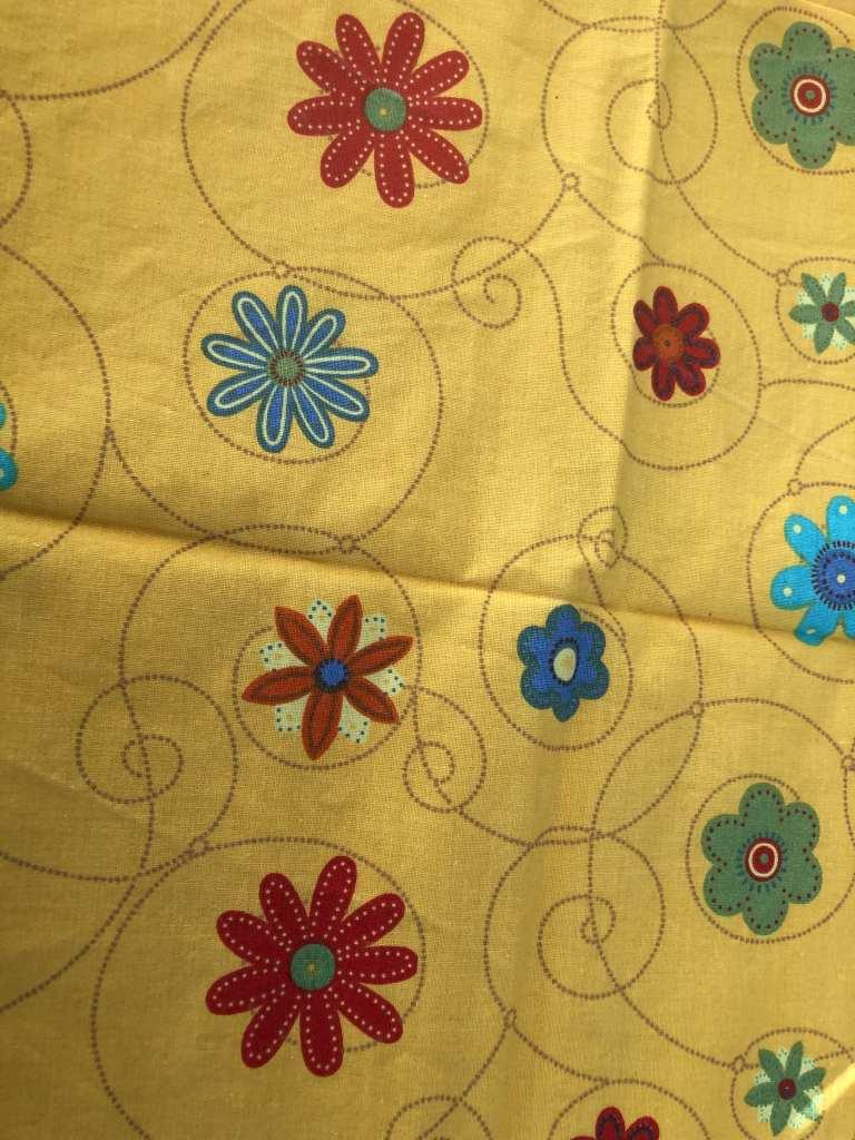 Baumwolle Blumen gelb
