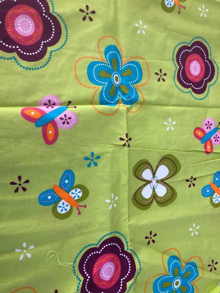 Baumwolle Blumen grün