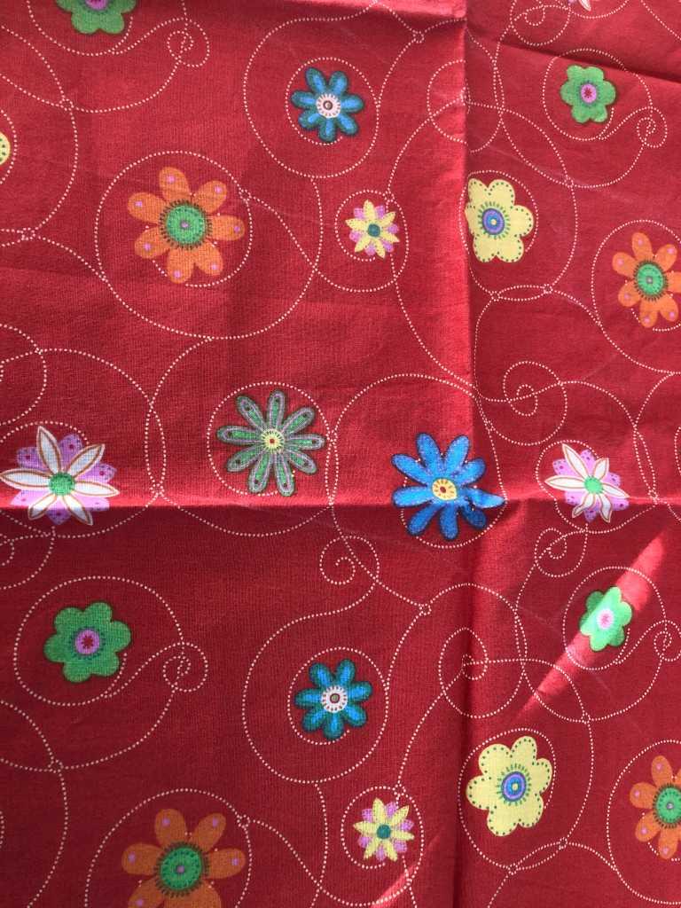 Baumwolle Blumen rot