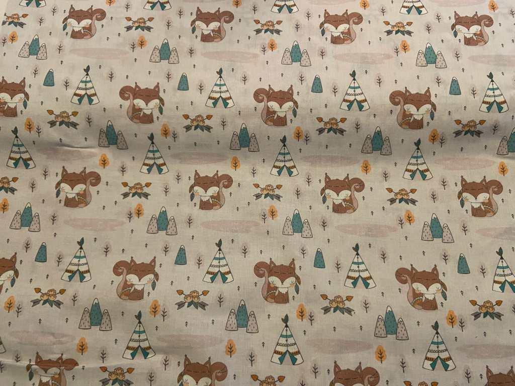 Baumwolle Fuchs mit Tipizelt
