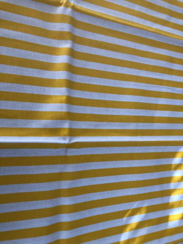 Baumwolle gelbe Streifen