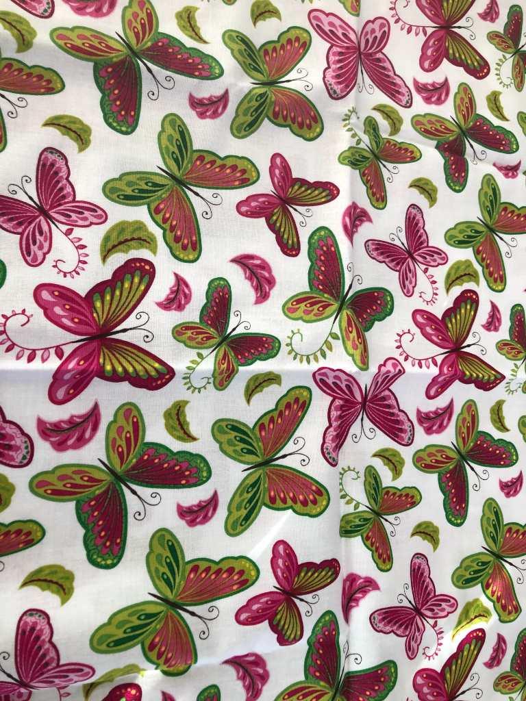 Baumwolle grüne Schmetterlinge