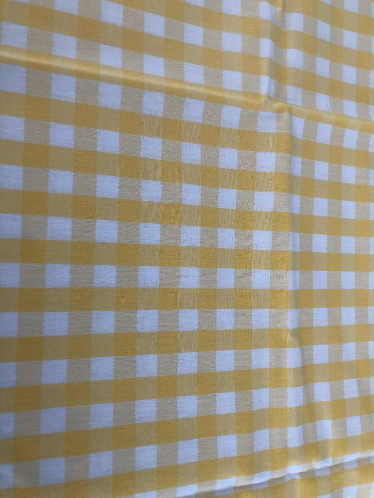 Baumwolle kariert groß gelb weiß