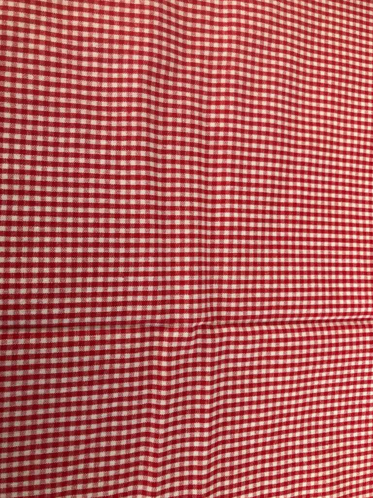 Baumwolle kariert klein rot weiß