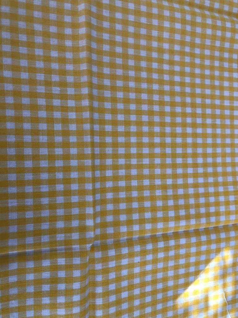 Baumwolle kariert mittel gelb weiß