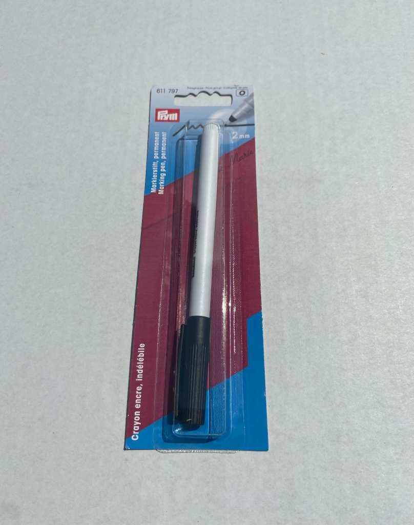 Prym Markierstift permanent 2mm schwarz